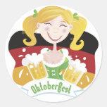 Octoberfest Mädchen Etiquetas