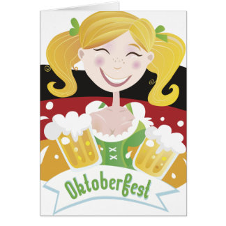 Octoberfest Mädchen Greeting Card