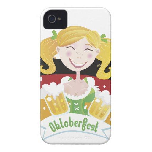 Octoberfest Mädchen iPhone 4 Case-Mate Fundas