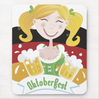 Octoberfest Mädchen Mouse Pads