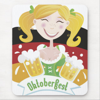 Octoberfest Mädchen Mouse Pad