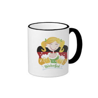 Octoberfest Mädchen Ringer Coffee Mug