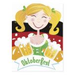 Octoberfest Mädchen Postcard