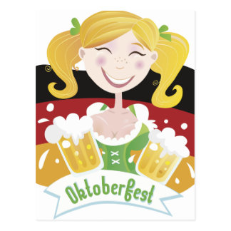 Octoberfest Mädchen Post Card