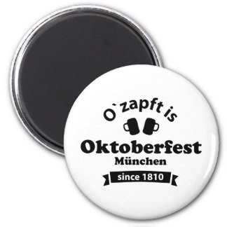 Octoberfest O' taps is 2 Inch Round Magnet