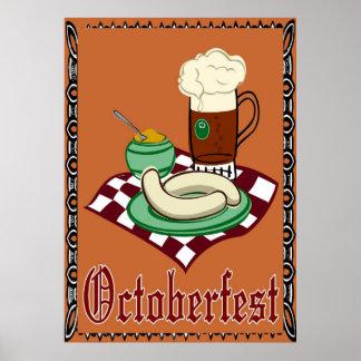Octoberfest Oktoberfest alemán Poster
