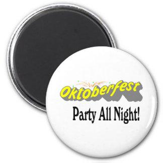 Octoberfest Party All Night Fridge Magnets