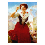 OCTOBERFEST vintage Edelweiss BEER PARTY INVITES