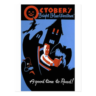 October's Bright Blue Weather Postcard