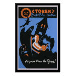 October's Bright Blue Weather Poster
