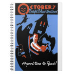 October's Bright Blue Weather Spiral Note Book