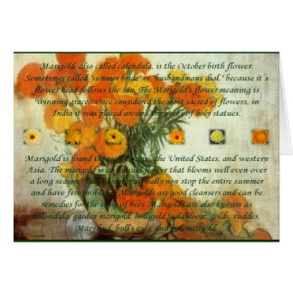 October's Child Birthday Wishes Greeting Card
