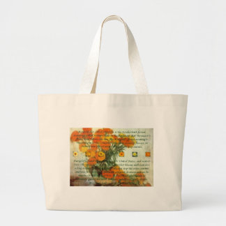 October's Child Birthday Wishes Large Tote Bag
