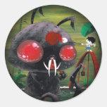 Octobunny - Fade to Black Classic Round Sticker