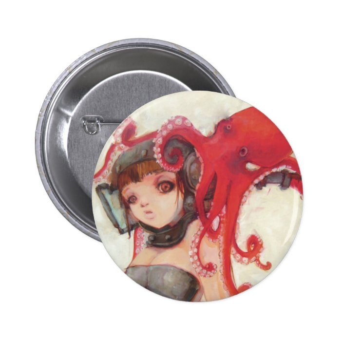 Octogirl Button