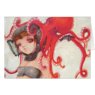 Octogirl Notecard Stationery Note Card