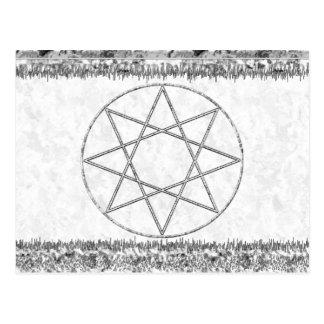 Octogram en gris postal
