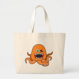 octomonster orange.ai tote bags