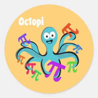 Octopi Classic Round Sticker