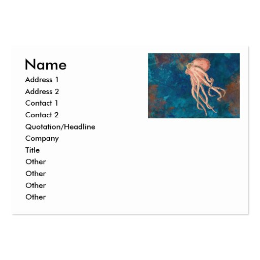 octopi cyan sea business card