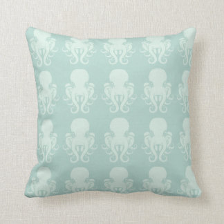 Octopi Logo Pattern Throw Pillow