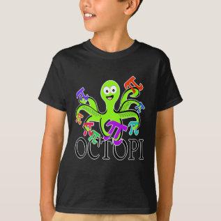 Octopi Pi Day T-shirt at Zazzle