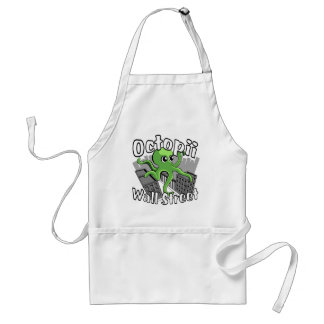 Octopii Wall Street - Occupy Wall St! Adult Apron