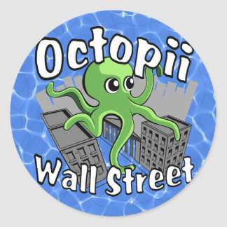Octopii Wall Street - Occupy Wall St! Classic Round Sticker