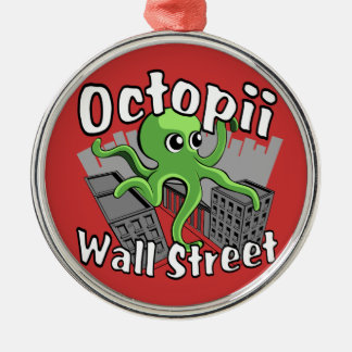 Octopii Wall Street - Occupy Wall St! Christmas Tree Ornament