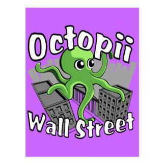 Octopii Wall Street - Occupy Wall St! Postcard