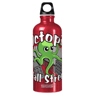 Octopii Wall Street - Occupy Wall St! Water Bottle