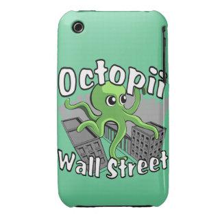 ¡Octopii Wall Street - ocupe Wall Street! iPhone 3 Cárcasas