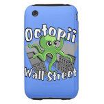 ¡Octopii Wall Street - ocupe Wall Street! iPhone 3 Tough Fundas