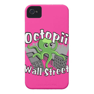 ¡Octopii Wall Street - ocupe Wall Street! Case-Mate iPhone 4 Carcasa
