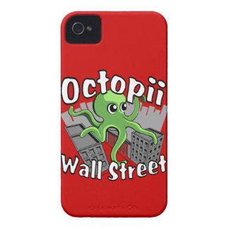 ¡Octopii Wall Street - ocupe Wall Street! iPhone 4 Cárcasa