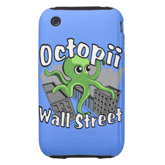 ¡Octopii Wall Street - ocupe Wall Street! iPhone 3 Tough Carcasas