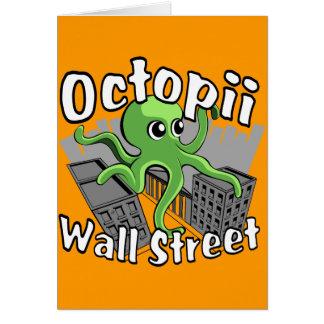 ¡Octopii Wall Street - ocupe Wall Street! Tarjeta De Felicitación