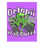 ¡Octopii Wall Street - ocupe Wall Street! Tarjetas Postales