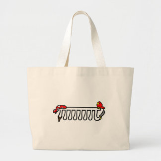 Octopirate Large Tote Bag
