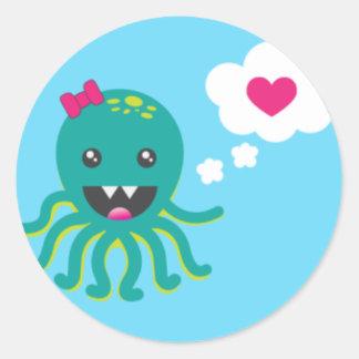 Octopire (Sticker) Classic Round Sticker