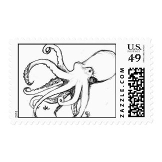 Octopod Adventures with the USPS Postage Stamps