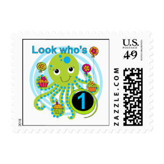 Octopus 1st Birthday T-shirts and Gifts Postage