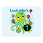 Octopus 1st Birthday T-shirts and Gifts Postcard