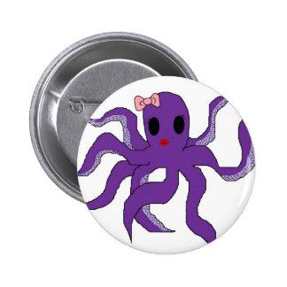 Octopus 2 Inch Round Button