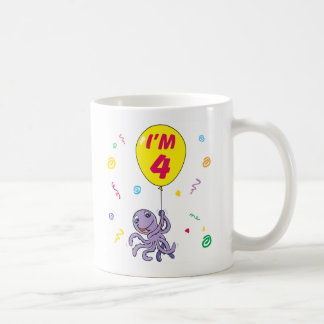 Octopus 4th Birthday Coffee Mug