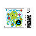 Octopus 4th Birthday T shirts and Gifts Postage