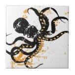 Octopus Abstract Ceramic Tile