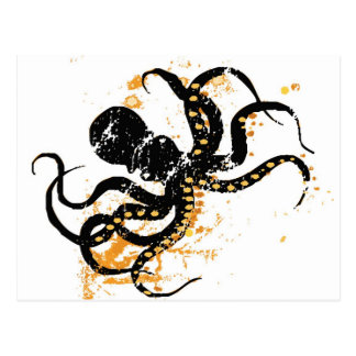 Octopus Abstract Postcard