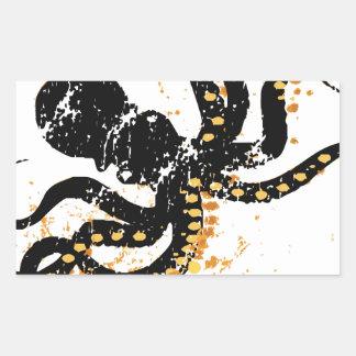 Octopus Abstract Rectangular Sticker
