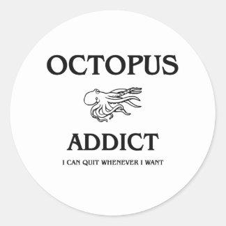 Octopus Addict Sticker
